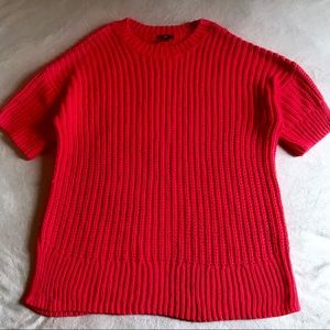 H&M Bright Pink Knit Long Oversized Sweater